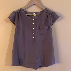 J. Crew - Grey Blouse Size Medium